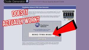 the psn code generator scam site experiment