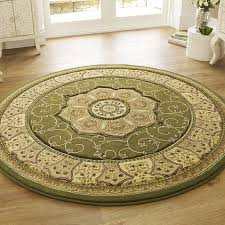 heritage circle rug 4400 green