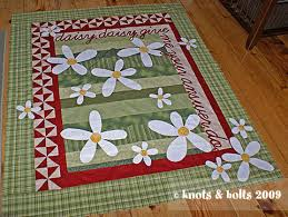 knots & bolts » Blog Archive » Daisy, daisy & daisy quilt top Adamdwight.com