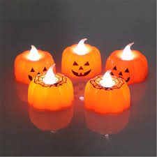 Northern Lights White Pumpkin Candle Battery Operated Warm White Pumpkin Spider Pattern Led Candle Lantern Holiday Light Halloween Decor
