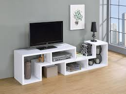 white office bookcase. HOME OFFICE : BOOKCASES - Contemporary White Convertible TV Stand And  Bookcase White Office Bookcase G
