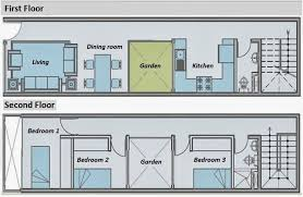 Deep Floor Plans Narrow   slyfelinos comLong and Narrow House Plans