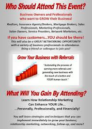 Relationship Marketing \u0026 Networking Event for Business ...