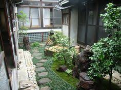 Small Picture Print of Small Japanese Garden for Green and Refreshing Exhibition