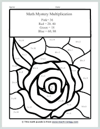 Math Coloring Worksheets 5th Grade Multiplication Pages Just
