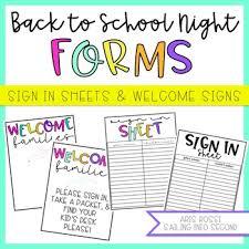Meet The Teacher Sign In Sheet Teaching Resources Teachers Pay