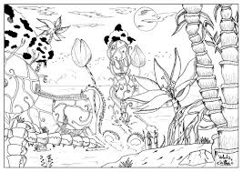 Landscape By Valentin Valentin Adult Coloring Pages