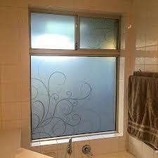 bathroom window digital print on dusted crystal for privacy frosted glass windows spray