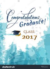 congratulations to graduate congratulations graduate class 2017 stock vector 526264162