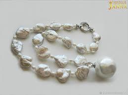 necklaces beads handmade livemaster handmade pearl