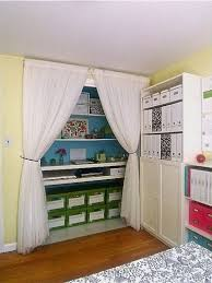 home office in a closet. Eclectic Home Office Closet Offices / Becky Harris In A