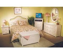 wicker bedroom furniture. White Wash Pavilion Wicker Bedroom Collection Furniture