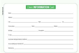 customer info card template information card template to customer information card template