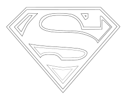 Small Picture Superman Logo Coloring Pages Free At glumme
