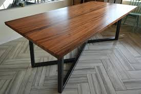 wooden table with metal legs wood dining table with metal legs made in round wooden coffee