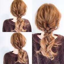 毛束をねじって結ぶだけ 簡単なのに仕上がりが可愛いロングのヘア