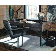 rustic home office desk. industrial home office desk modern rusticindustrial with steel base rustic