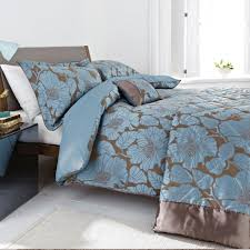 blue on brown silk oriental style duvet covers king size for modern bedroom decor beautiful your bedding