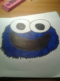 cookie monster drawing cute. Wonderful Monster Picture Of How To Draw A Cute Cookie Monster And Color Steps Inside Monster Drawing G