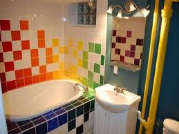 ... Marvelous Kids Bathroom Ideas Kid Bathroom Accessories Colorful Ceramic  Floor Bathtub Mirror: inspiring ...