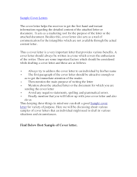Cover Letter Examples Of A Great Cover Letter Examples Of A Good