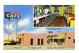 Us Highway Mileage Chart Amazon Com Paramount Cafe Us Route 66 Gallup New Mexico