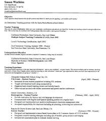 Resume Objective Examples For Teachers Hotwiresite Com
