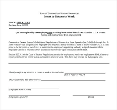 Sample Return To Work Medical Form Download Free Documents Letter ...