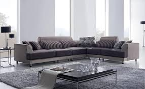 tosh furniture modern beige fabric sectional sofa w chair  flap