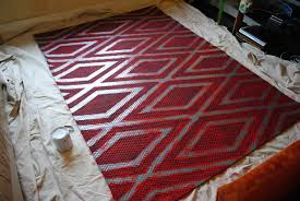 Fabric Rug Diy Diy Painted Patterned Rug Tori Storis