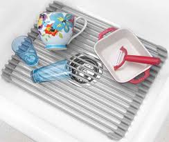 Ideas Nice Stainless Steel Sink Protector With Kitchen Holder Ideas