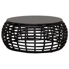 attractive outdoor wicker coffee table of furniture pretty round australia ottoman canada crosley catalina