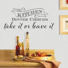 Kitchen Dinner Wallpops Kitchen Dinner Choices Wall Quote Dwpq2380 The Home Depot