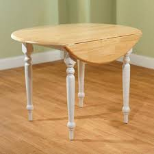 round dining table with drop leaf white natural wood