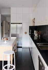 view in gallery midcentury modern kitchen black and white with a hint of cream l36 kitchen