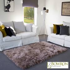 bowron sheepskin area rug 120 x 180cm in paco