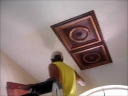 How To Install Decorative Ceiling Tiles Faux Tin Ceiling Tiles Installation Video YouTube 17