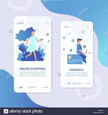 Buy Templates Online Landing Page Template For Online Shopping With Flat People