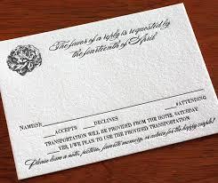 A Way With Words Rsvp Letterpress Wedding Invitation Blog
