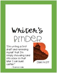 Custom Binder Cover Custom Student Writers Binder Cover And Labels By Kasandra Yates
