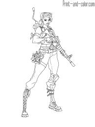 Fortnite Battle Royale Coloring Page Master Grenadier Kacee Inside
