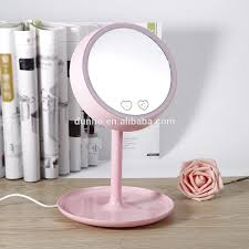 Led Light Up Mirror High Quality Usb Charged 2 In 1 Led Light Makeup Mirror Table Lamp Vanity Mirror Intelligent Desk Stand Make Up Mirror Buy Make Up Light