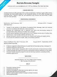 Barista Resume Fascinating Barista Resume Sample Basic 60 Elegant Barista Skills Resume Sample