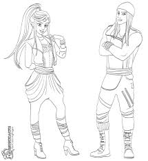 Disney Descendants Coloring Pages Mal Sheets For Kids Page 1011