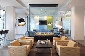 Glass Living Room Fireplace