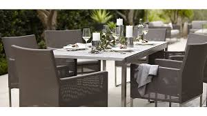 crate barrel outdoor furniture. dune rectangular dining table with pebbled glass crate barrel outdoor furniture l