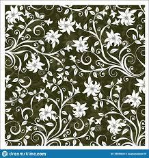 Motif Designs Wallpaper Vector Batik Design Style Patterns Stock Vector