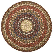 earth rugs c 300 honey vanilla ginger round braided rug 4 feetx4 feet farmhouse area rugs by zeckos