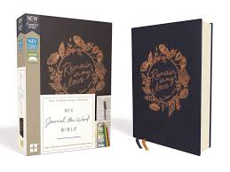 Niv Journal The Word Bible Navy Remain In My Love
