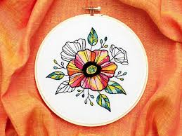 Combine Embroidery Designs 20 Floral Embroidery Patterns